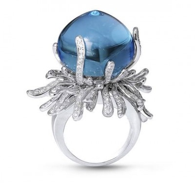 HARRY WINSTON-Bague-Saphir-diamants
