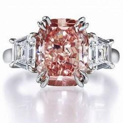 HARRY WINSTON-Bague-diamants rose-diamants