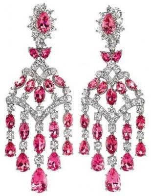 HARRY WINSTON-Boucles d'oreilles-avec Tourmalines et diamants, HARRY WINSTON©