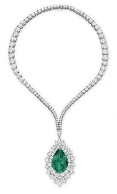 HARRY WINSTON-Collier-diamants-Emeraude