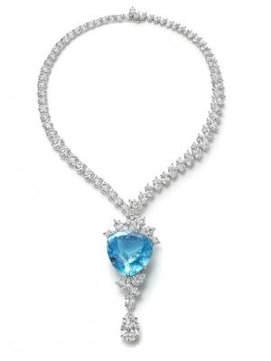 HARRY WINSTON-Collier-diamants-tourmaline Paraiba