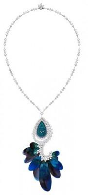 HARRY WINSTON-Montre avec broche détachable-diamants-plumes