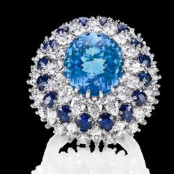 HARRY WINSTON-Paraiba Tourmaline-saphire-diamants