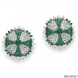 JAR-émeraude-diamants-boucles d'oreilles