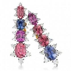JAR-boucles d'oreilles clips-spinelles de couleur-diamant