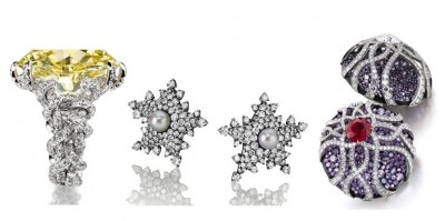 JAR-boucles d'oreilles-saphirs-rubis-diamants