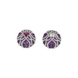 JAR-boucles d'oreilles-saphirs violets