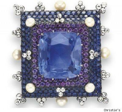 JAR-broche d'or-saphirs-perles-diamants-sapphires-pearles-diamonds