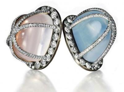 JAR-clips-pierre de Lune-quartz rose-diamants-moonstone-pink quartz-diamonds