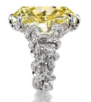 JAR-diamant jaune Fancy intense yellow 15.75ct-diamants