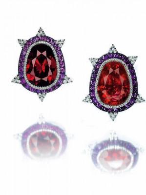 JAR-earing-grenat-amethyste-diamant-tourmaline-garnet-diamond