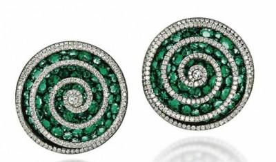 JAR-emeralds-diamonds-ear clips-émeraudes-diamants