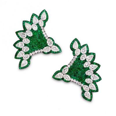 JAR-emeralds-diamonds-earings-boucles d'oreilles-émeraudes-diamants