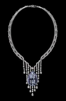 L'ODYSSÉE DE CARTIER, COLLECTION PARCOURS D'UN STYLE, platine, tourmaline, perle naturelle, diamants, onyx, CARTIER