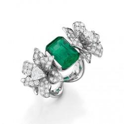 MELLERIO DITS MELLER-Collection Médicis-bague Luxuriante-émeraude-diamants