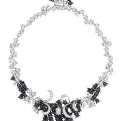 MELLERIO DITS MELLER-Collier Haute Joaillerie-Night Lily-onyx-diamants-or gris