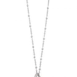 MELLERIO DITS MELLER-Collier Night lily-Or gris-diamants-onyx