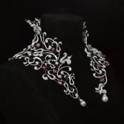 MELLERIO DITS MELLER-Collier-collection Medicis-diamants-perles-rubis
