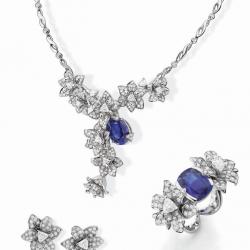 MELLERIO DITS MELLER-parure Luxuriante-collection Medicis-saphirs-diamants