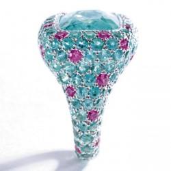 MICHELE DELLA VALLE-Paraiba tourmaline-saphir rose-