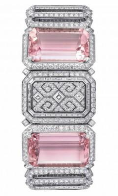 CARTIER-Montre secret Urban-or blanc-kunzite-diamants