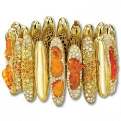 NICOLAS VARNET-Bracelet Pilar-Opale de feu-saphirs-diamants