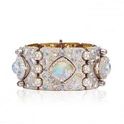 NICOLAS VARNET-Bracelet Ventoux-diamants-opale de feu-Pierre de Lune
