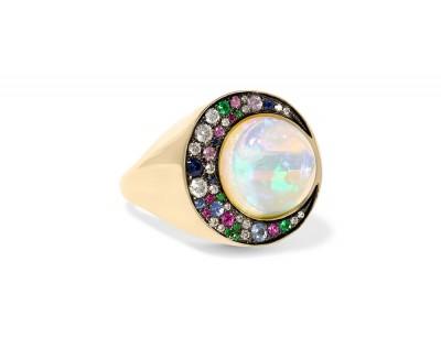 NUUN-opale-joaillerie-été-bague éclipse-or gris-opale