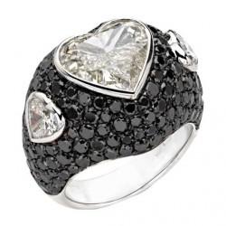 PICCHIOTTI-bague-diamants blancs-diamants noirs-