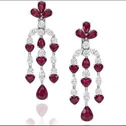 PICCHIOTTI-the Unique Art Collection-2015-rubis-diamants-boucles d'oreilles