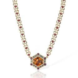 RICARDO BASTA-citrine-saphir vert-diamants-rubis