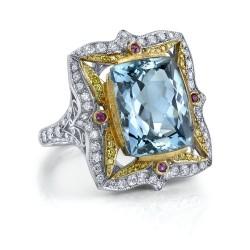 RICARDO BASTA-diamants-aigue marine-diamants jaunes