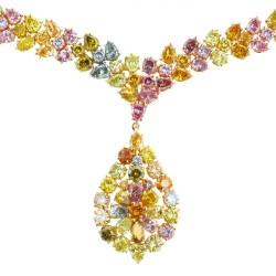 RICARDO BASTA-diamants de couleur-collier