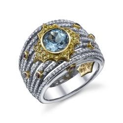 RICARDO BASTA diamants jaunes-aigue marine-rubis-rubis