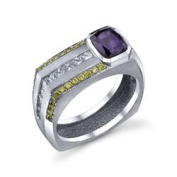 RICARDO BASTA-diamants-saphirs color change-saphir-diamants jaunes