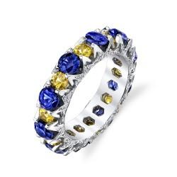 RICARDO BASTA-saphirs jaunes-saphirs bleus