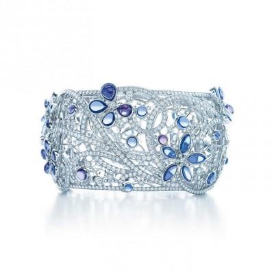 TIFFANY & Co-Bracelet papillon-saphirs du Montana-diamants