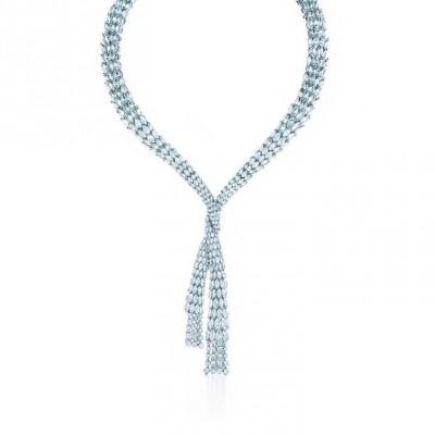 TIFFANY & Co-Collier Drapé-diamants