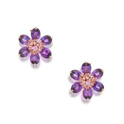 #VAN CLEEF & ARPELS #Amethyst #Améthyste #Pink Sapphire #Saphir rose #'Hawaii' Earclips