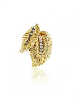 #VAN CLEEF & ARPELS #Broche #Pendentif #Saphirs #Diamants #Sapphire #Diamond #brooch-pendant