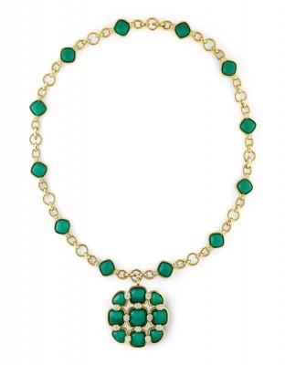 #VAN CLEEF & ARPELS #Gold #necklace #Chrysoprase