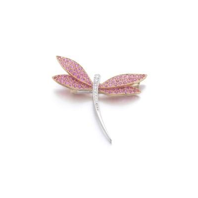 #VAN CLEEF & ARPELS #Pink sapphire #diamond #brooch