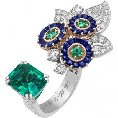 #VAN CLEEF & ARPELS #Sapphires #Emeralds #Diamonds #Ring