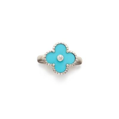 #VAN CLEEF & ARPELS #Turquoise #Diamond #diamant #'Vintage Alhambra' Ring