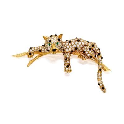 VAN CLEEF & ARPELS-brooch-leopard-onyx-diamond