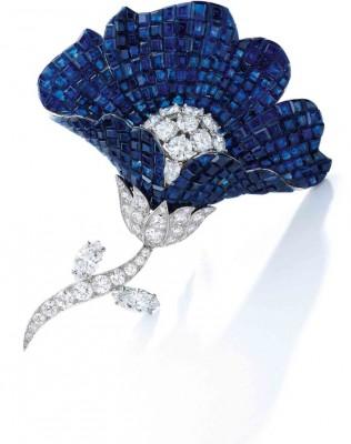 VAN CLEEF & ARPELS-brooch-sapphire-diamond