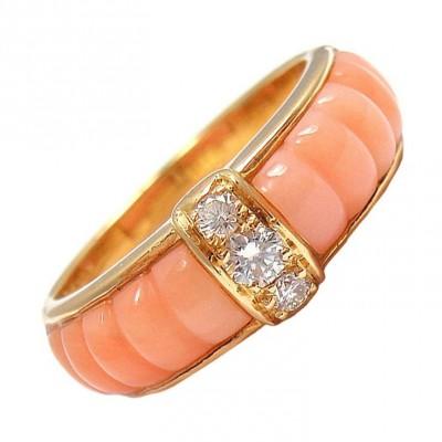 VAN CLEEF & ARPELS-diamant-corail-or jaune-bague