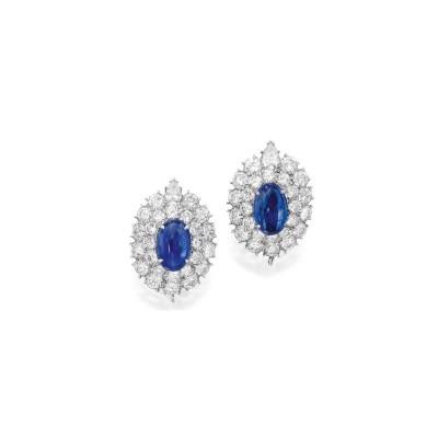 VAN CLEEF & ARPELS-earrings-sapphires-diamonds