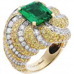VAN ClEEF & ARPELS-émeraude-diamants