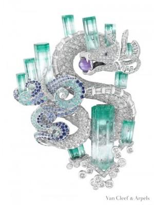VAN ClEEF & ARPELS,diamants,émeraudes
